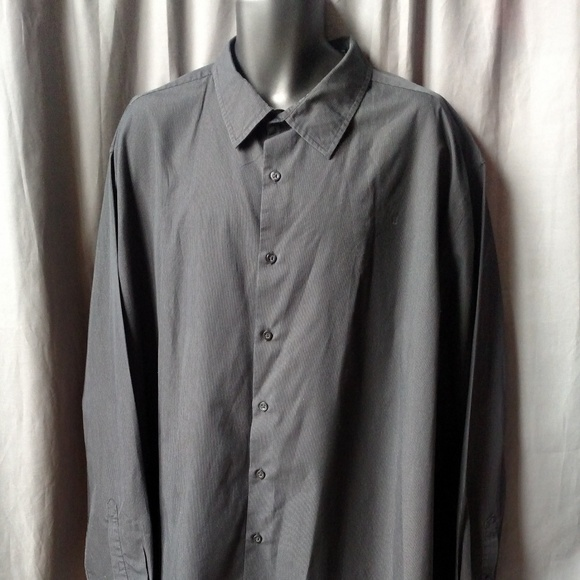 Alfani Other - ALFANI Big &Tall Men's Black Button Down Pinstripe